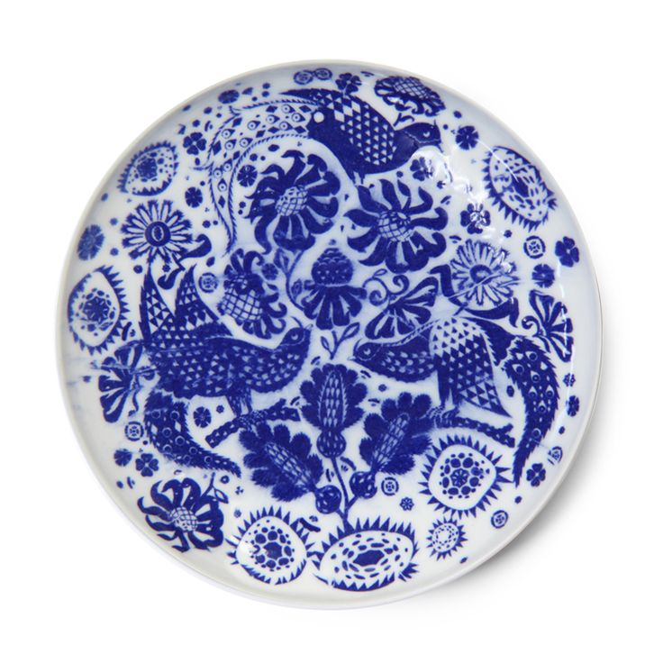 Klaus Haapaniemi is designing a set of traditional Japanese ceramics with blue hand applied pigments for Scope, Japan. The first in the set is called Cuckoo.  Available only in Japan. Combination of traditional Japanese elements, Finnish folklore and natural history.