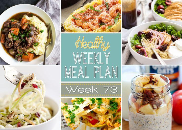 Planejar um plano de refeição saudável a maneira mais fácil do café da manhã todo o caminho para lanches da meia-noite!  Receitas destaque de todos os seus blogueiros alimentares saudáveis favoritas!
