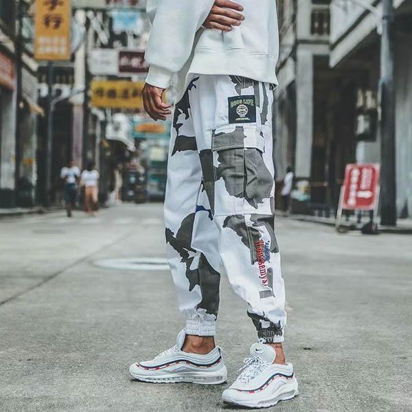 White Camouflage Cargo Pants Camouflage Cargo Pants Cargo Pants Outfit Men Cargo Pants Men