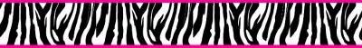 Zebra print and hot pink wallpaper border by Kreationz4kidzdotcom, $14.99