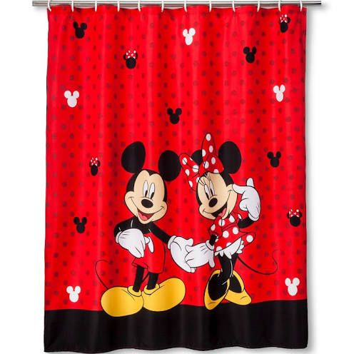Mickey Bath Set. Minnie Shower Curtains