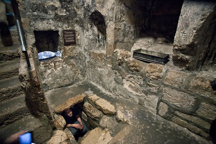 The Tomb of Lazarus at Bethany where Jesus raised Lazarus from the dead, shortly before Jesus enters Jerusalem for the last time
