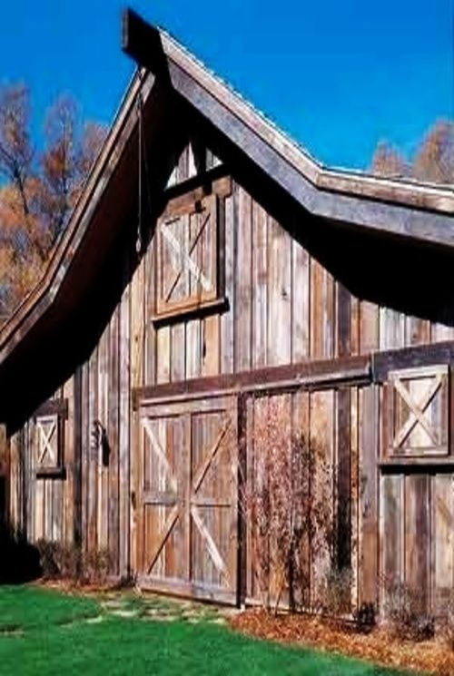 This Barn Was Made From The Boards Of Another Old Barn