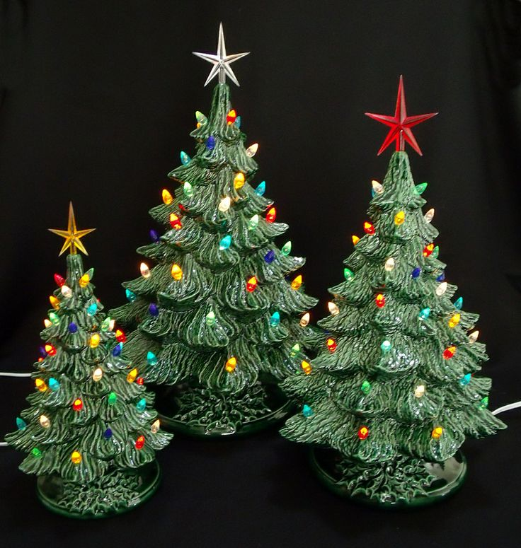 Vintage Ceramic Christmas Tree | Vintage Ceramic Christmas Tree Collection 16 and 19 in
