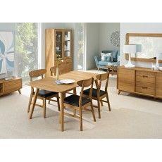 Bjorn Oak 6-10 Person Extending Dining Table