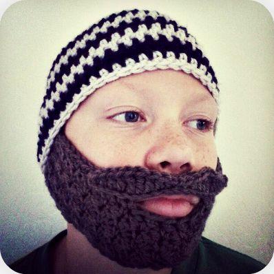 Crochet Bobble Beard pattern - multiple sizes   Ashlee Marie