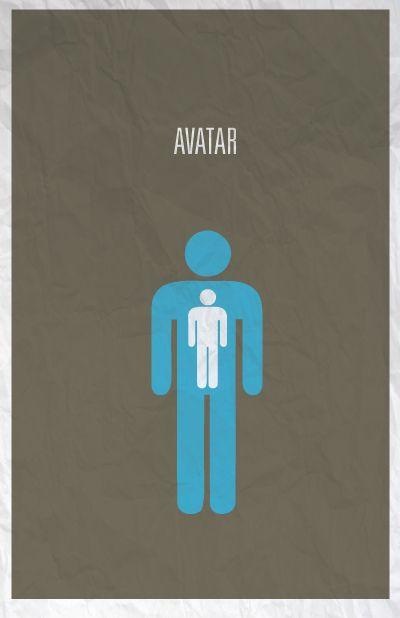 Avatar minimalist poster design  #Design #poster #movie #avatar