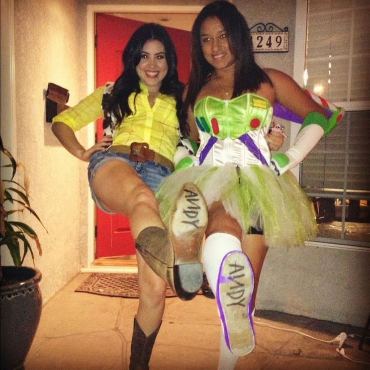 mine and my best friends 2012 halloween costumes to infinity and beyond - Girls Halloween Party