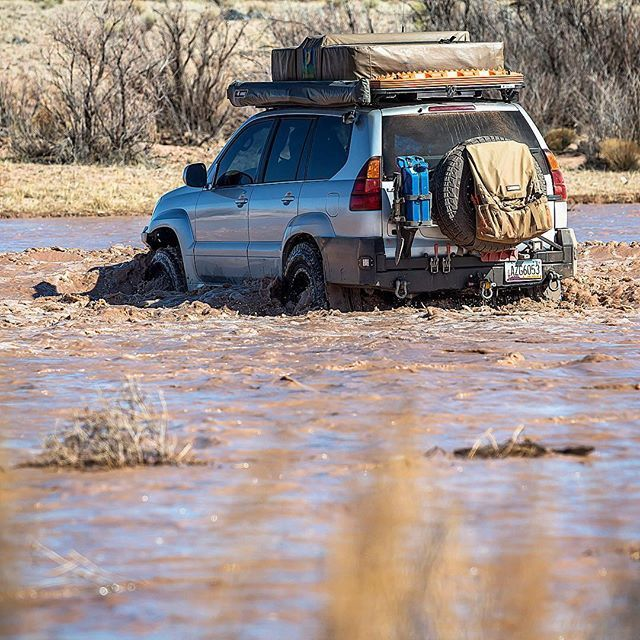 The #LittleColoradoRiver wasn't so little on this day! @adv_driven always carries #maxtrax, just in case. ( @explorelements)  #maxtraxarmy #gx470 #adventuredriven #lexus #overland #offroad #4wd #4x4 #adventuremobile #homeiswhereyouparkit #rivercrossing #Arizona