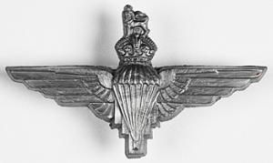 Parachute Regiment cap badge. Parachute Regiment was formed during the Second World War and eventually raised 17 battalions.