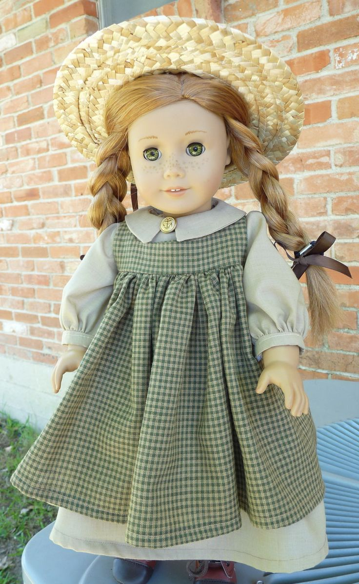 "18"" Doll Clothes Historical  ""Anne of Green Gables"" Style dress 1900's Fashion Fits American Girl Samantha, Kirsten"