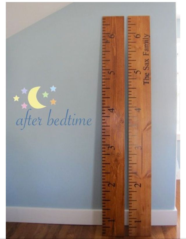 46 best children 39 s room decor images on pinterest girls for Growth chart for kids room