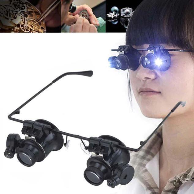 Magnifying Dual Eye Glasses Loupe Lens Magnification Glasses Eye Glasses Lens