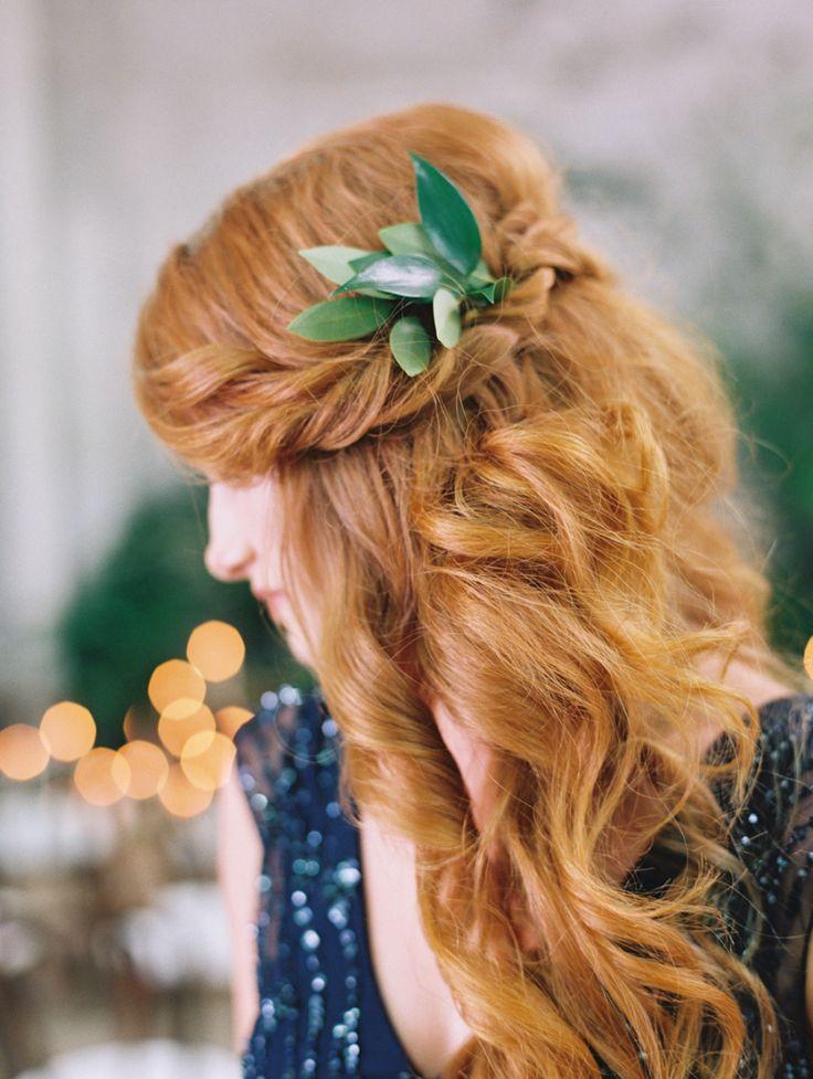 Photography: Diana McGregor - dianamcgregor.com Hair: Kacee Geoffroy Hair And Makeup - www.KaceeGeoffroy.com Floral Design: Heirloom Design House  - www.HeirloomDesignHouse.com   Read More on SMP: http://www.stylemepretty.com/2015/08/13/black-tie-botanical-wedding-inspiration/