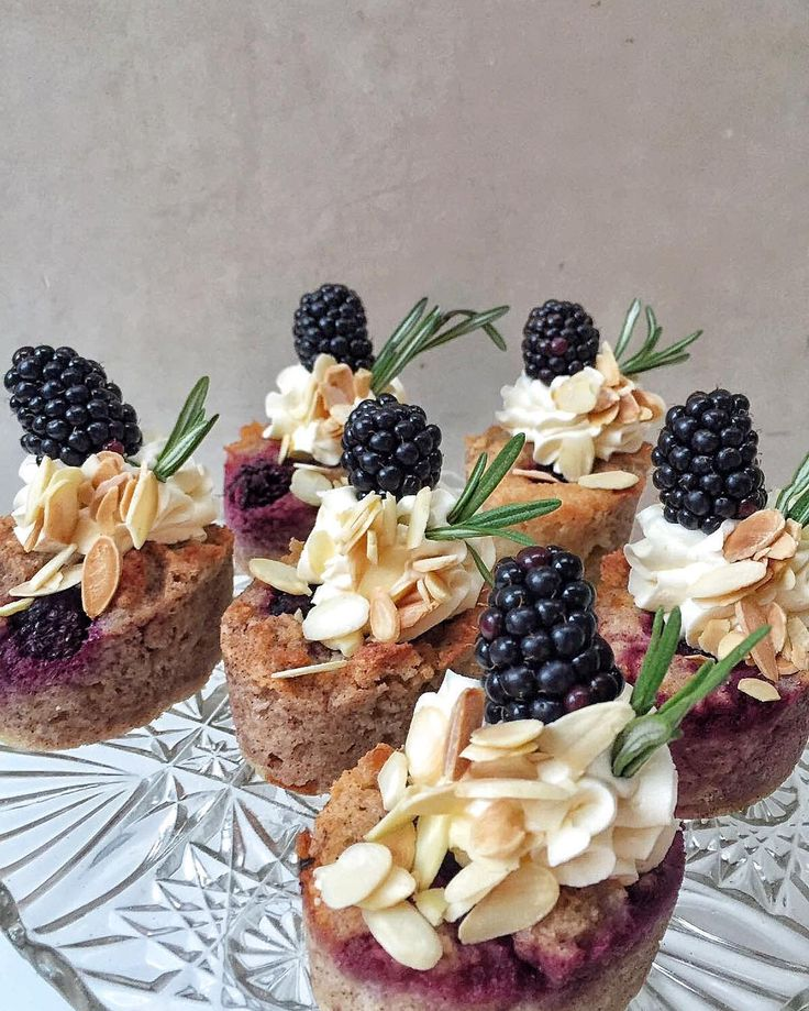 Apple rosemary & blackberry flourless cakes for a wintry day  I'll be chatting cakes & decorating a spread of pretty Christmas cakes @fortnums this afternoon with @frances_quinn - come & say hi!