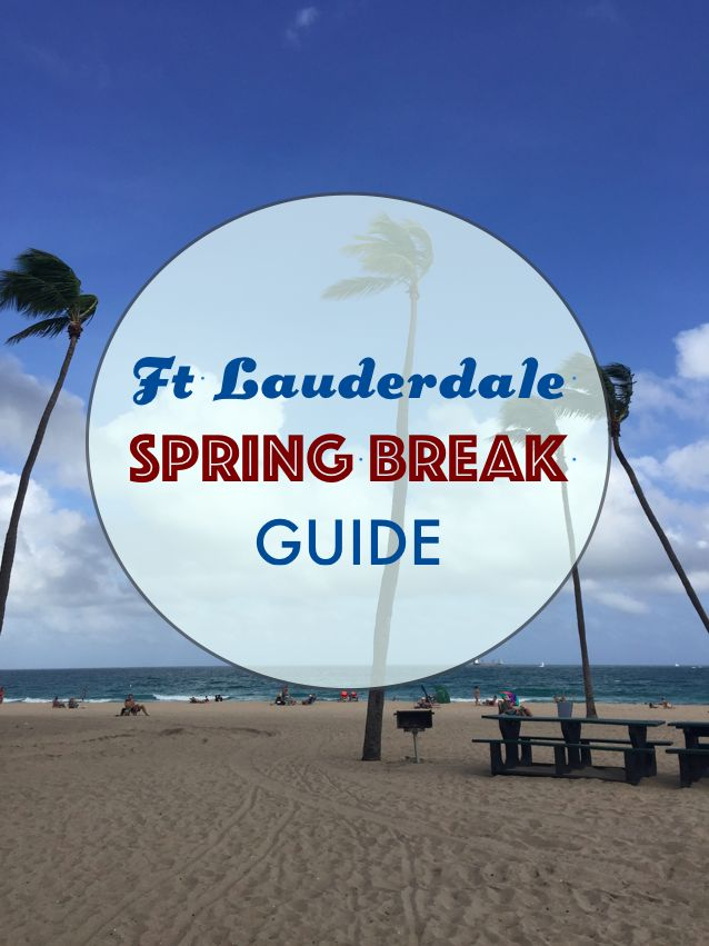 Fort Lauderdale Spring Break Guide. Check out the best bars and restaurants to go to in Fort Lauderdale | www.atlasofbeautyblog.com