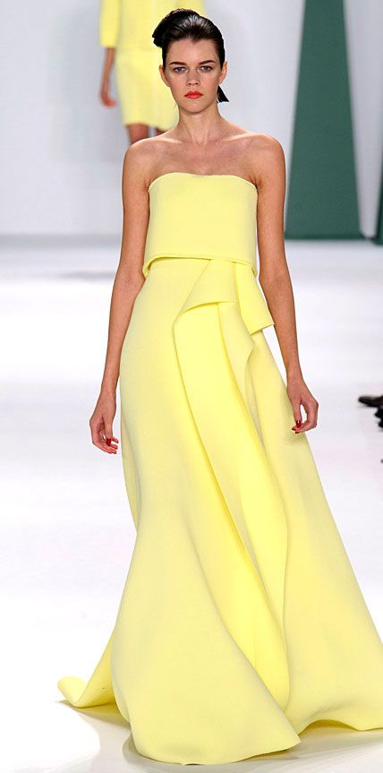 2014 New York Fashion Week - Spring/Summer 2015 from #InStyle    Carolina Herrera