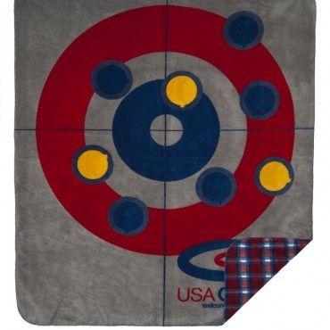 I really want this USA Curling blanket! I think I need it while I'm watching curling in the 2014 Olympics!