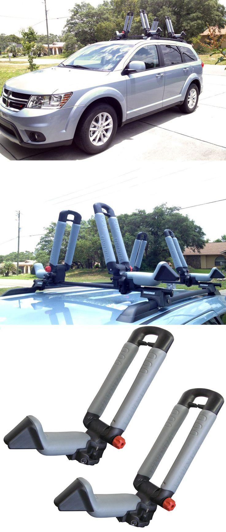 Kayak On Roof >> Yakima BowDown Folding J-Style Kayak Carrier for Roof Racks