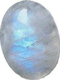 De populairste soort: blauwe maansteen blue moonstone