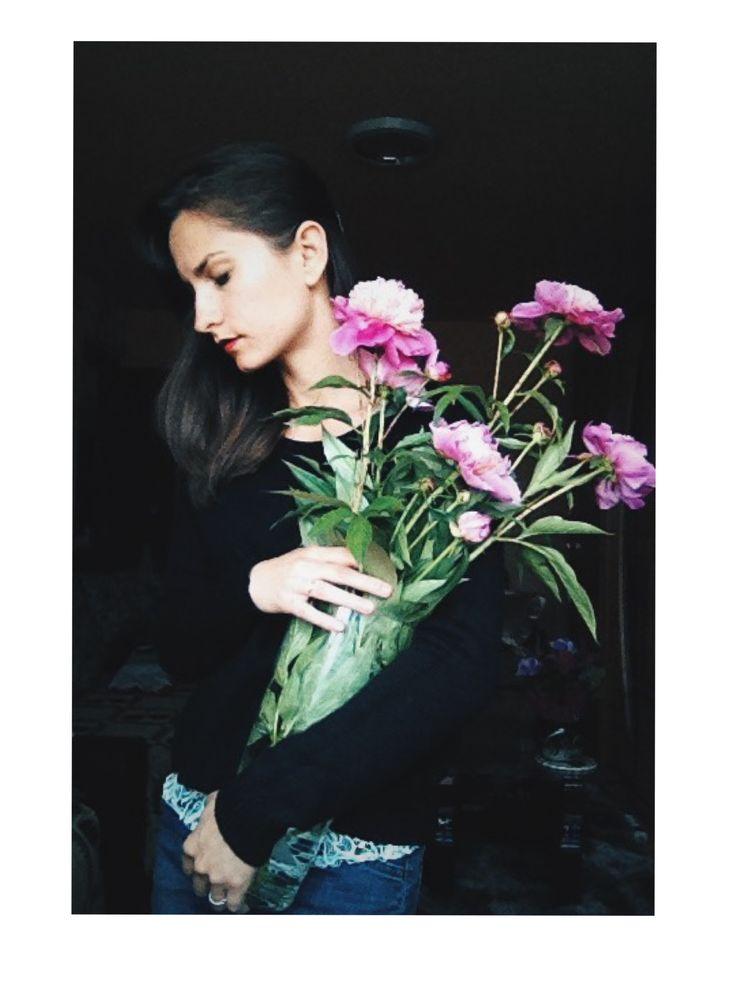 | scent of peonies |  #flowerlover #peonies #springflowers #selfportrait #bloomehereyouareplanted #portraitofanyoungartist #firstandlasts