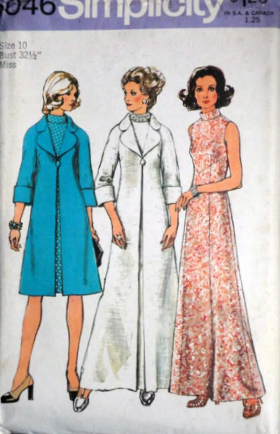 ec681b92a2729 Vintage 70 s Simplicity 6046 Sewing Pattern