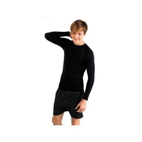 Camiseta Leonardo Special GYM Referencia  0498 Marca:  Roly  Prenda térmica de máximo confort, tejido técnico elástico de fácil lavado y terminación elástica reforzada. Franja frontal y espalda: especial punto transpirable. Coderas: especial punto canalé adaptable.  92% poliamida/8% elastano, 230 g/m2.