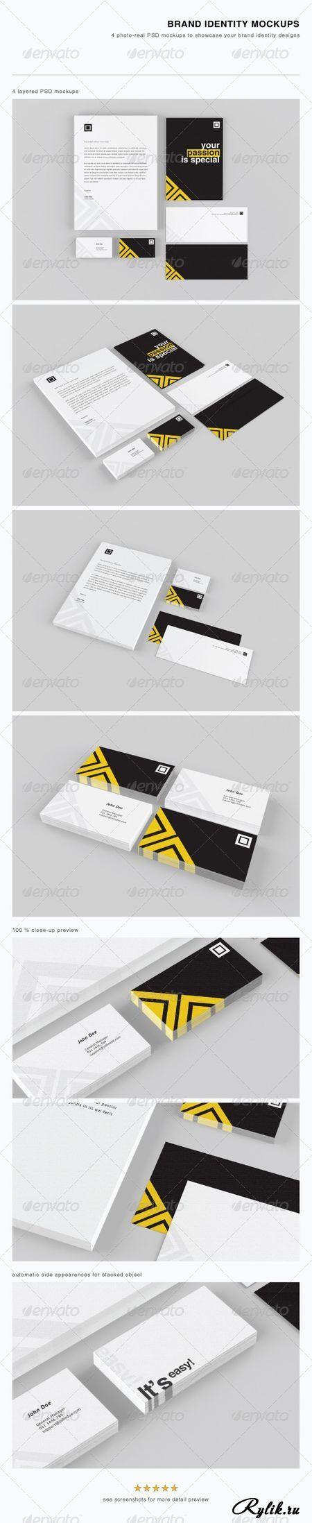 Брендинг, фирменный стиль - макет для презентации. PSD - Brand Identity Mockups