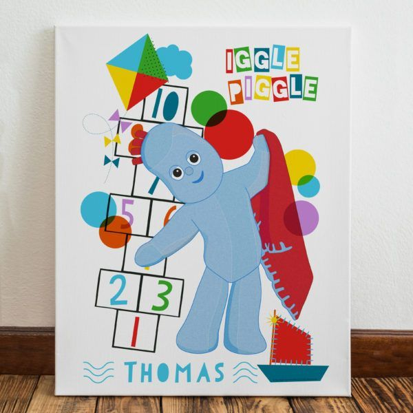 Personalised Iggle Piggle Hopscotch Canvas Stone Hall Gifts Night Garden Personalized Birthday Gifts Personalised