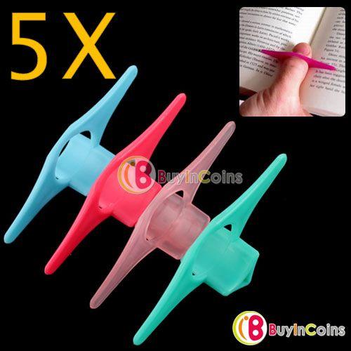 5PCS Convenient Multifunction Marker Thumb Book Holder -- BuyinCoins.com