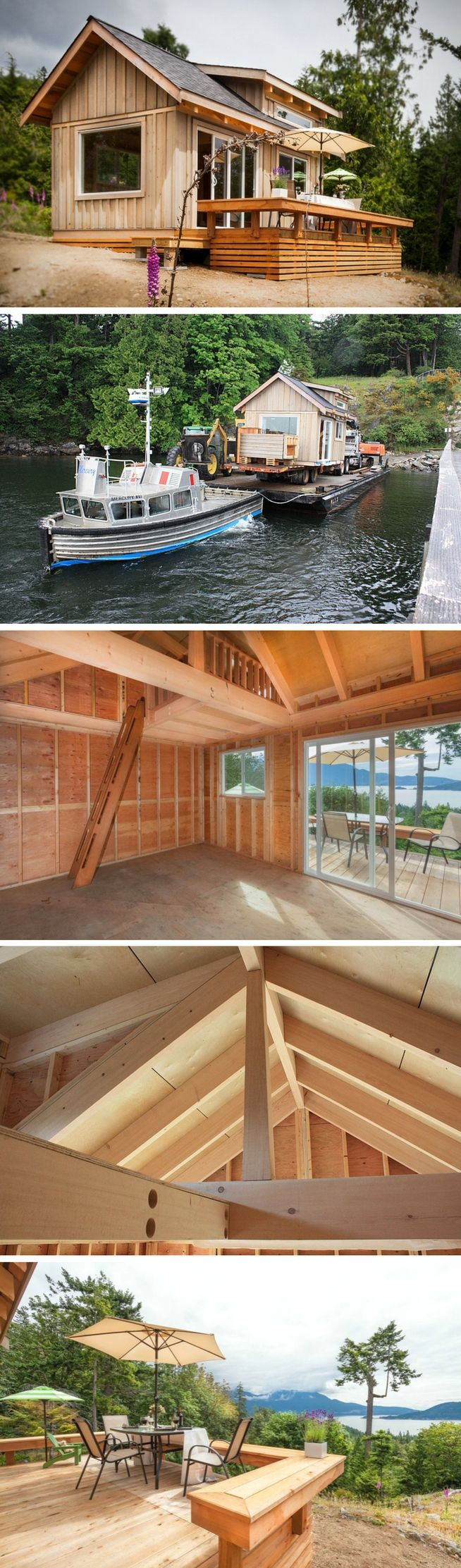 The Gambier Island cabin, measures just 192 sq ft!