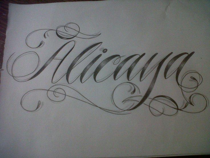 Text script font tattoo design by tattoosuzette viantart