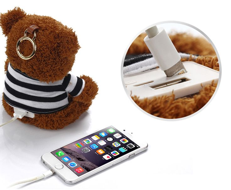 Cheap bank power, Buy Quality power bank 10000mah xiaomi directly from China bank power xiaomi Suppliers: Cute Bear 10000mAh Power Bank with Teddy Bear V8 Double Input External Harger Powerbank for Mobile Phone for Xiaomi for Girls