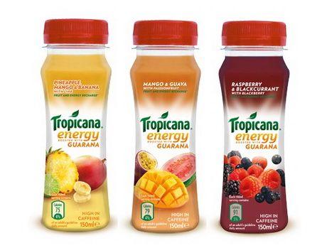 Энергетические напитки появятся в ассортименте продукции под маркой Tropicana