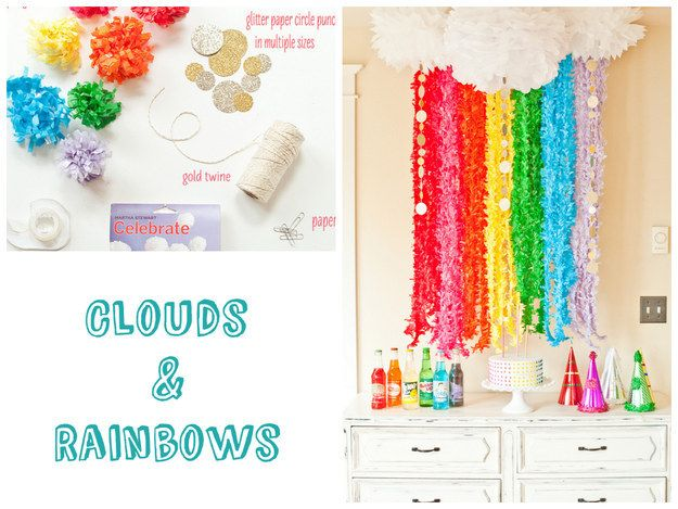 Brighten up any party by creating a rainbow photo booth.