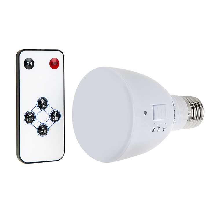 LED Emergency Light Bulb for Power Outages with Remote and Internal Rechargeable Battery   Power Outage LED Lighting   Wireless LED Lights   LED Flashlights & Flashlight Bulbs   Super Bright LEDs