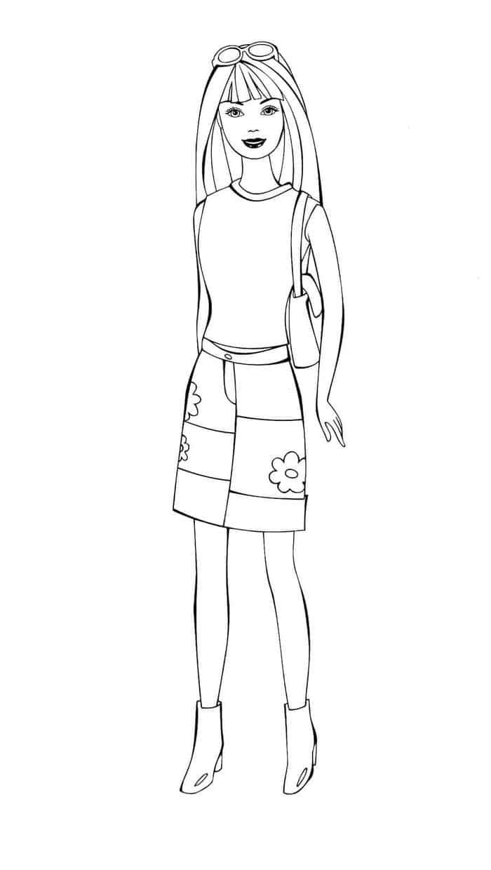 Barbie Doll Coloring Pages Barbie Coloring Pages
