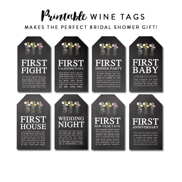 wine tags perfect bridal shower gift chalkboard mason jar instant download printable instant download printables pinterest bridal shower gifts