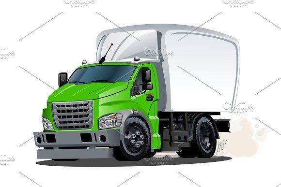 Cartoon Delivery Or Cargo Truck Cargo Cartoon