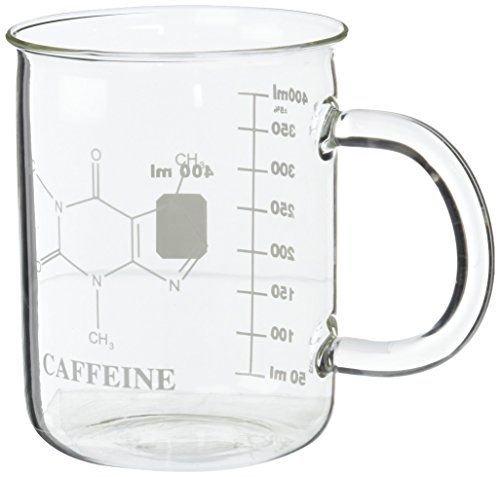 Gl Mug With Caffeine Molecule Printed On One Side Graduations The Other Measure Up To Total Volume Of Is Made Heat