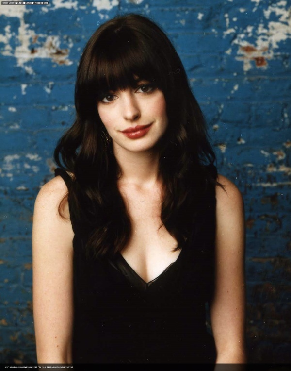 Anne Hathaway. Kyle never has a preference about my hair but after watching The Devil Wears Prada he has decided that he wants my hair to look like Anne's. Hahaha