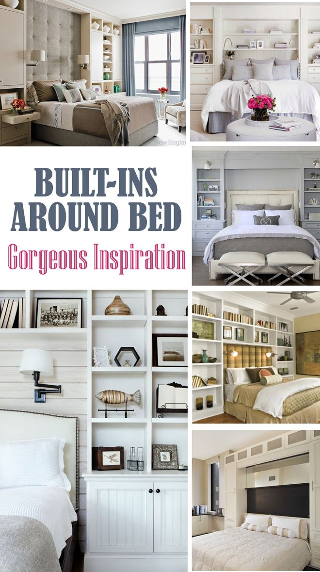 Built-ins around Bed - Inspiration | Inspiration, Bedrooms and Master  bedroom
