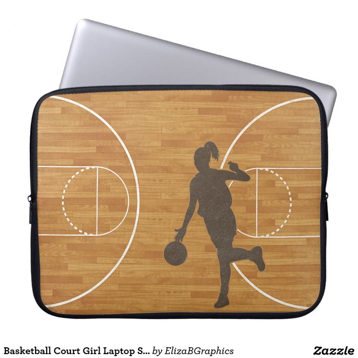 SOLD -- thank you, Portes in France -- Basketball Court Girl Laptop Sleeve   #basketball  #girl  #woman  #laptop #sleeve