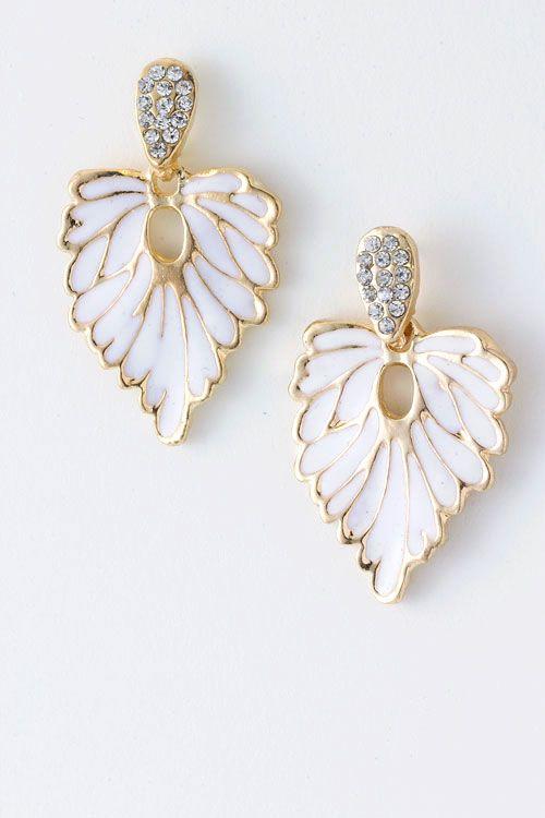 Crystal Folio Earrings