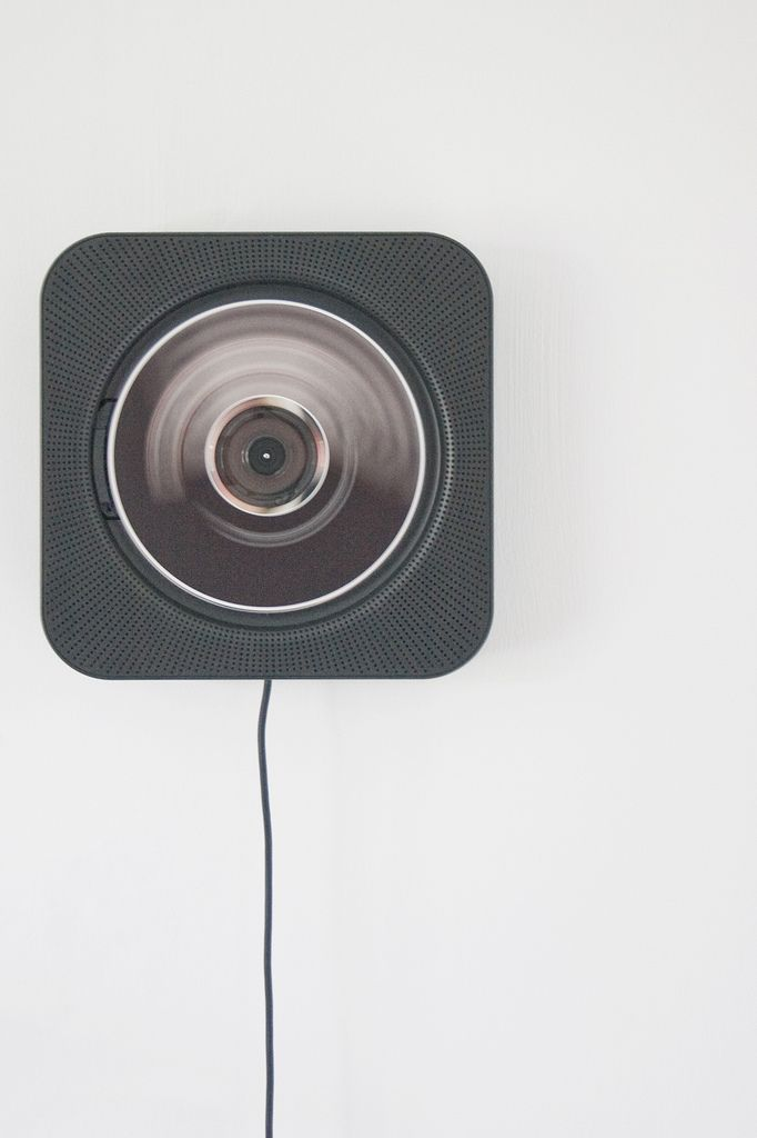 wall-hung CD player for muji by naoto fukasawa