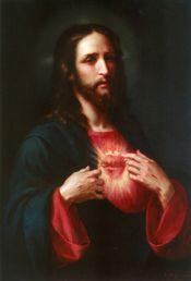 Sagrado Corazón por José María Ibarrarán y Ponce (1854-1910)