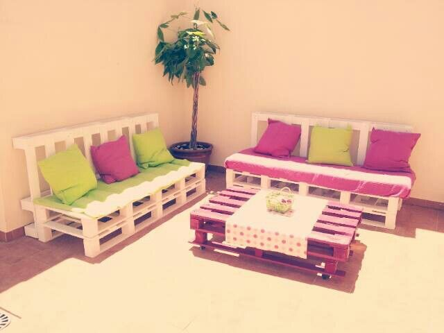 Sofa de panel con respaldo