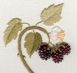blackberry beaded embroidery