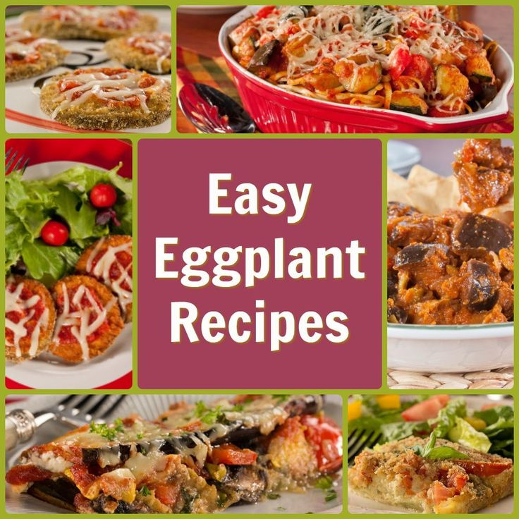 Easy fresh eggplant recipes