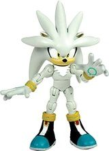 "Sonic The Hedgehog 6"""" Super Poser Plastic Action Figure Toy Silver"